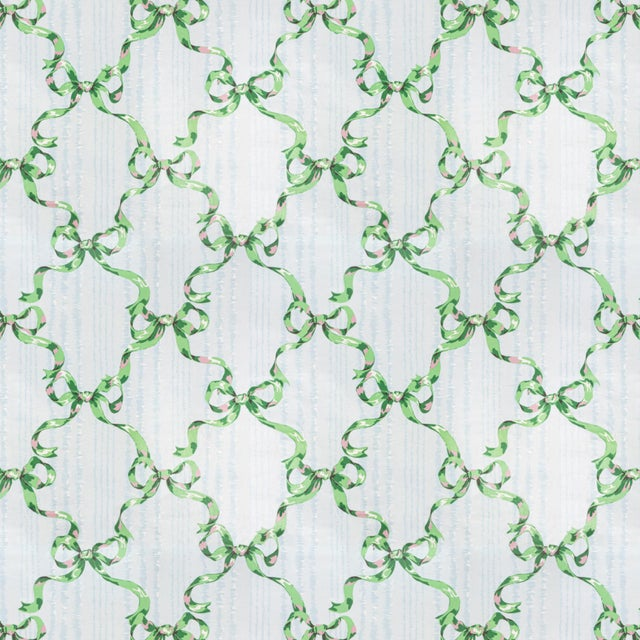 American Vintage Bassett McNab 'Moire Avec Rubans' Ribbon Fabric (By the Yard) For Sale - Image 3 of 3