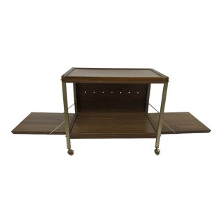 Vintage Mid Century Modern Record Player Cart For Sale