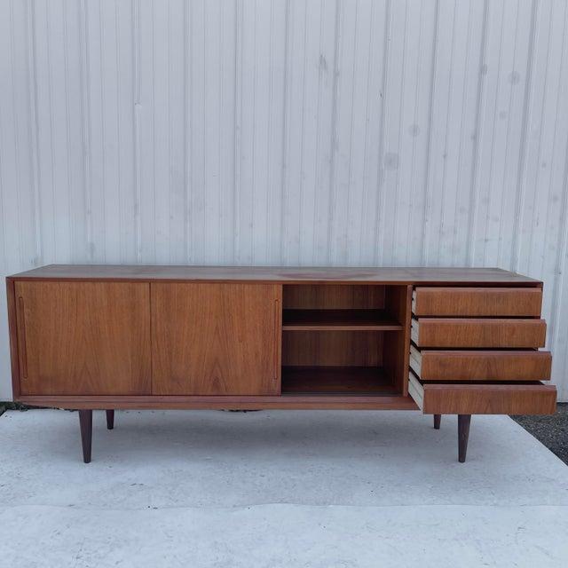 Lovig Design Mid-Century Modern Teak Sideboard Attr. Jens Quistgaard for Løvig For Sale - Image 4 of 13