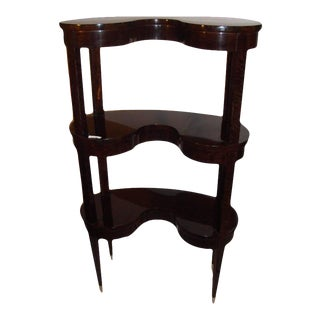 Jonathan Charles Kidney Shaped 3-Tier Etagere