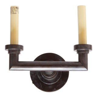Wilton Double Wall Sconce in Bronze by Chapman & Myers