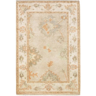 """Pasargad Ny Indo Oushak Hand-Knotted Rug - 2'1"""" X 3'1"""" For Sale"""