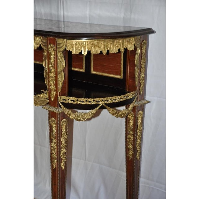 Antique Louis XVI Style Console After Design by Jean-Henri Riesener For Sale - Image 9 of 13