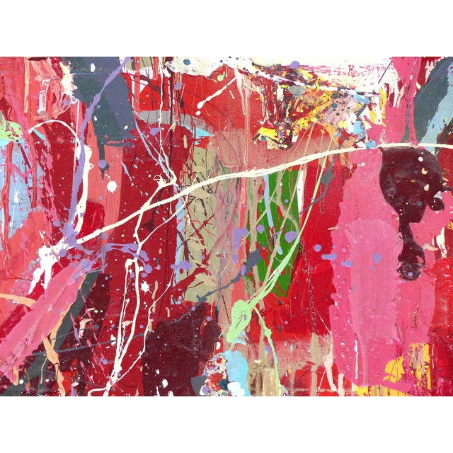 """Wood William P. Montgomery Abstract Mixed Media Painting """"Rocket Science #1"""" For Sale - Image 7 of 13"""