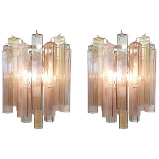 Pair of Multicolored Murano Sconces by Fabio Ltd For Sale
