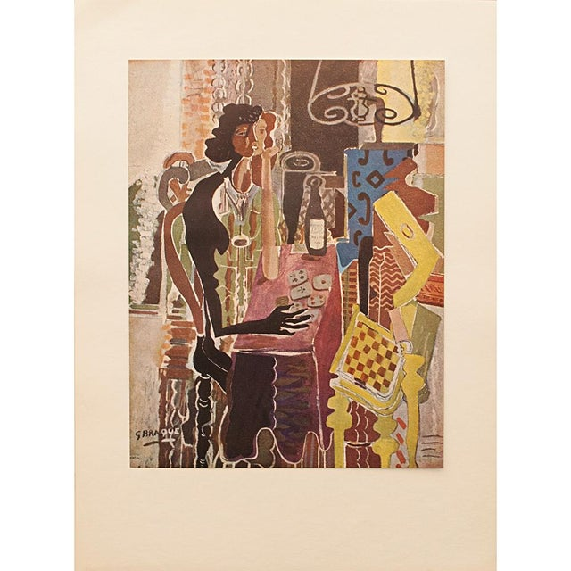 "Lithograph 1947 Georges Braque, Original Period Lithograph ""The Patience"" For Sale - Image 7 of 8"