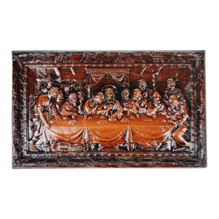 Vintage Burwood Products Last Supper Religious Wall Plaque For Sale