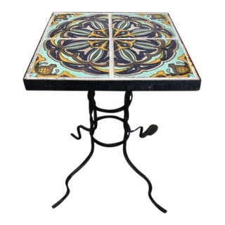 1920s Spanish Colonial California Tile Table For Sale