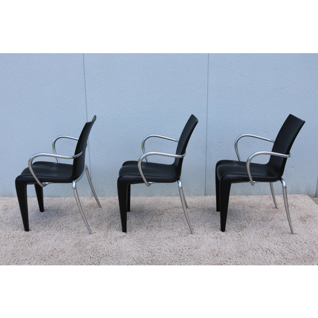 Black 1997 Vintage Philippe Starck for Vitra Louis 20 Armchair For Sale - Image 8 of 13