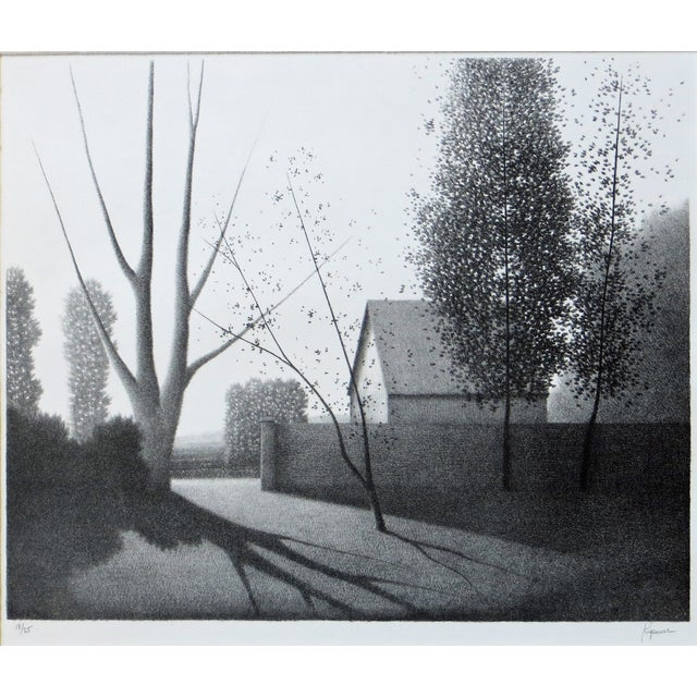 """This exceptional lithograph is very representative of Robert Kipniss' wonderful work. The print is titled """"Gateway"""" and..."""