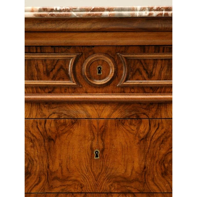 C.1860 Louis Philippe Book-Matched Burled Walnut Commode - Image 3 of 10
