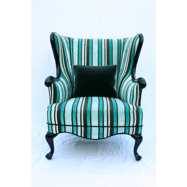 Vintage Round Wing Back Chair - Image 3 of 7