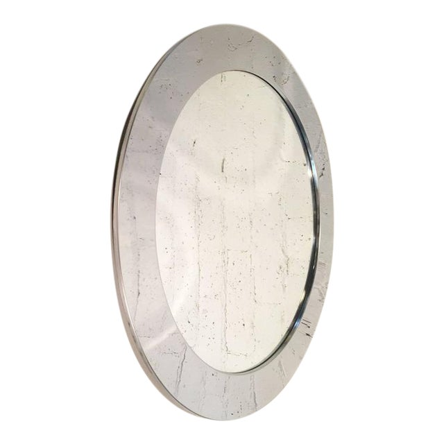 1970s Chrome Mirror by Curtis Jeré for Artisan House For Sale