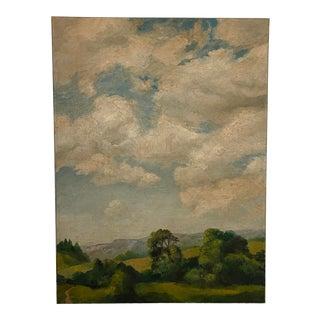 1990s Plein Air Landscape Oil Painting For Sale