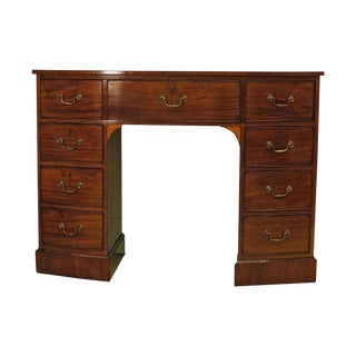 19th Century English Georgian Small Bow Front Mahogany Sideboard or Brandy Board For Sale