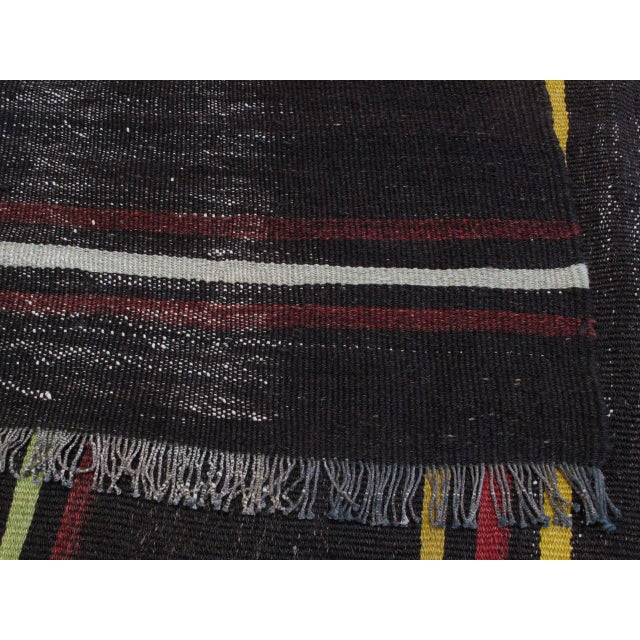 """Red Striped Kilim, """"Adil"""" For Sale - Image 8 of 10"""