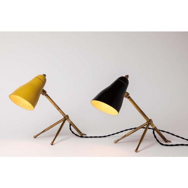 "Italian 1950s Giuseppe Ostuni ""Ochetta"" Wall or Table Lamps for O-Luce - a Pair For Sale - Image 3 of 13"