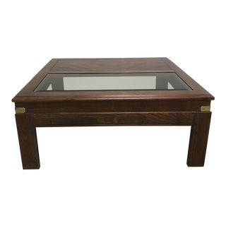 Campaign Coffee Table by Lane For Sale