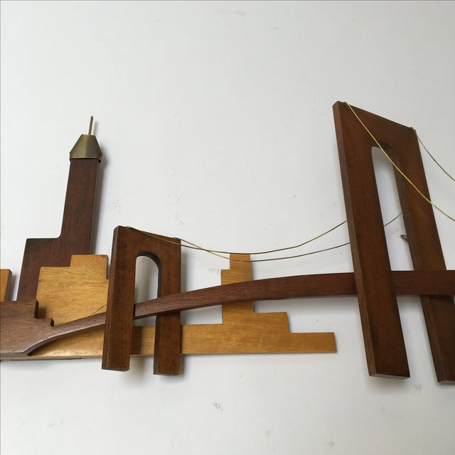 Vintage Wooden Wall Sculpture - Image 4 of 10