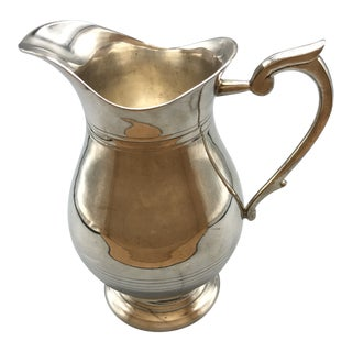 Georgian Style Silver Plated Water Pitcher With Ring Design For Sale