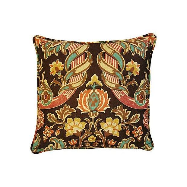 Custom Kravet Lutron Espresso Linen Pillows - Pair - Image 8 of 8