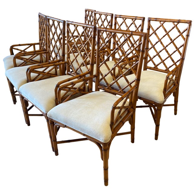 McGuire Style Bamboo Dining Chairs - Set of 8 For Sale - Image 13 of 13