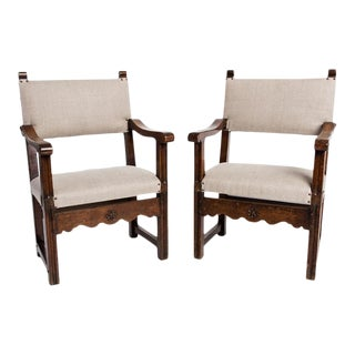 Early 20th Century Elbow Armchairs - a Pair For Sale