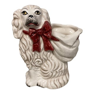 "Fitz & Floyd Staffordshire Spaniel 4"" Posey Vase Figure For Sale"