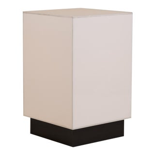 A Small Single White Acrylic Light Box Sidetable 1970s For Sale