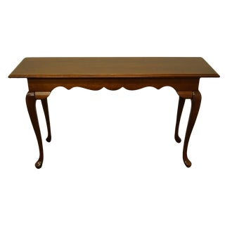 20th Century Queen Anne Cresent Furniture Traditional Style Solid Cherry Sofa/Console Table For Sale