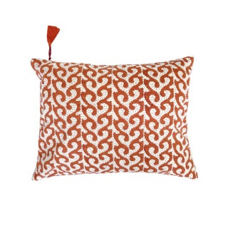 Breach Candy Kesar Orange Lumbar Pillowcase For Sale
