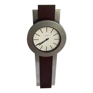 1980s Howard Miller Contemporary Style Wall Clock For Sale