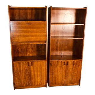 1970s Tall Shelving Units, Pair For Sale