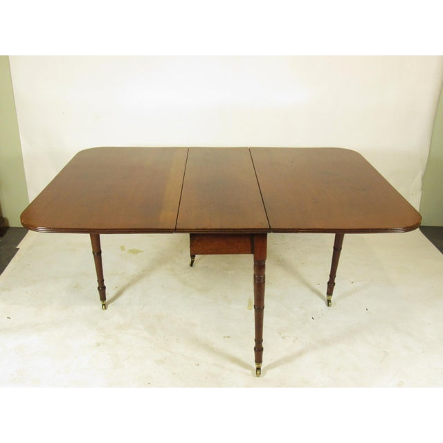 19th Century Regency Drop Leaf Mahogany Table For Sale - Image 11 of 12