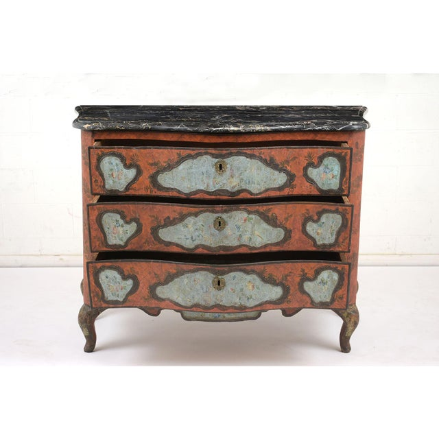 Late 18th Century Polychrome Chest of Drawers For Sale - Image 4 of 13