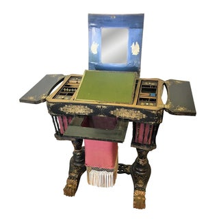 English Chinese Export Vanity & Sewing Table