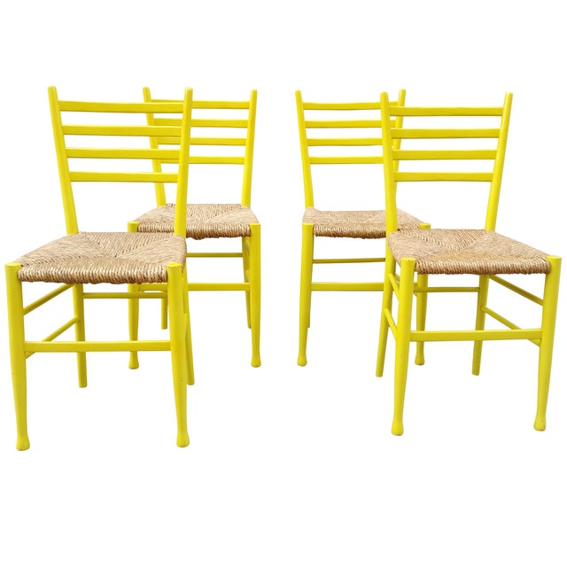 Mid-Century Gio Ponti Style Chairs - Set of 4 - Image 1 of 11
