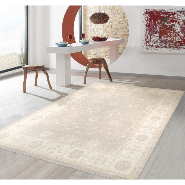 "Pasargad Ferehan Wool Area Rug - 9'10"" X 13' 5"" For Sale - Image 4 of 5"