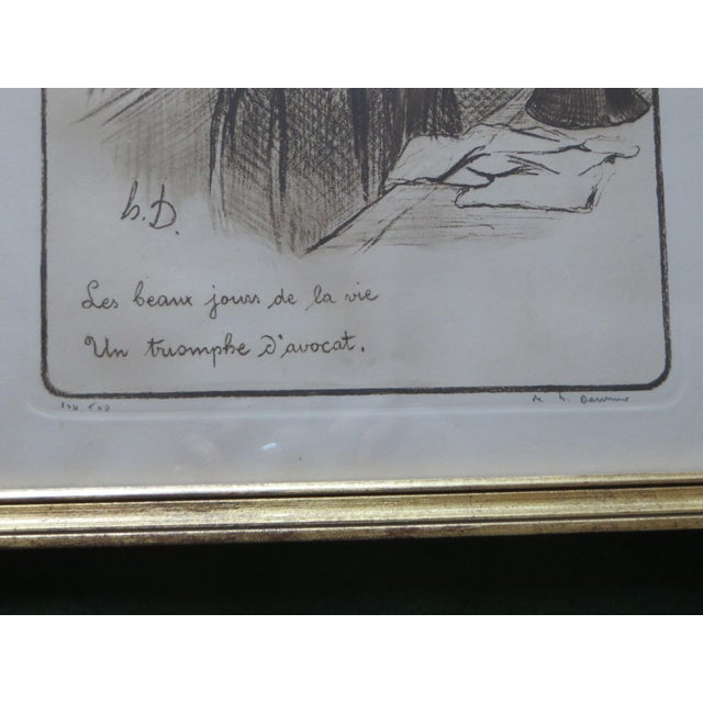 Signed Honore Daumier Caricatures - Set of 3 - Image 7 of 11