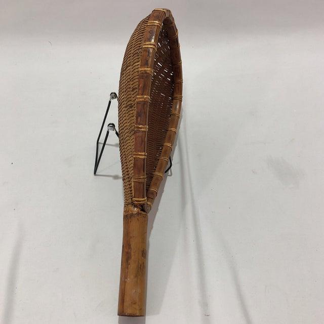 African Antique Decorative Racket Shaped Basket For Sale - Image 3 of 7