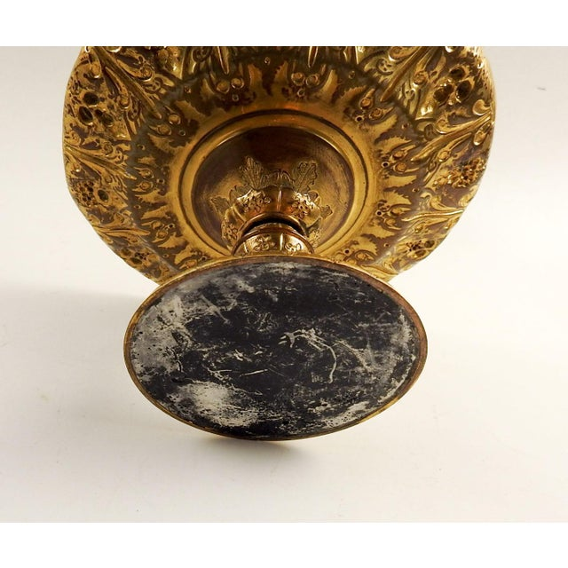 Art Nouveau Gilt Bronze Footed Dish Compote For Sale - Image 3 of 6