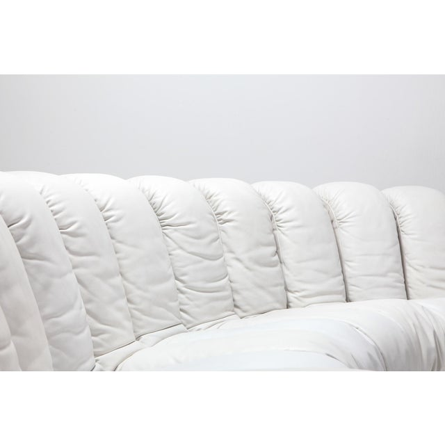 Non Stop Sectional Sofa Ds-600 by De Sede Switzerland in White Leather For Sale - Image 10 of 11