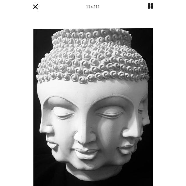 White Fornasetti Dora Maar Style Multi Face Asian Buddha Planter / Vase For Sale - Image 8 of 12