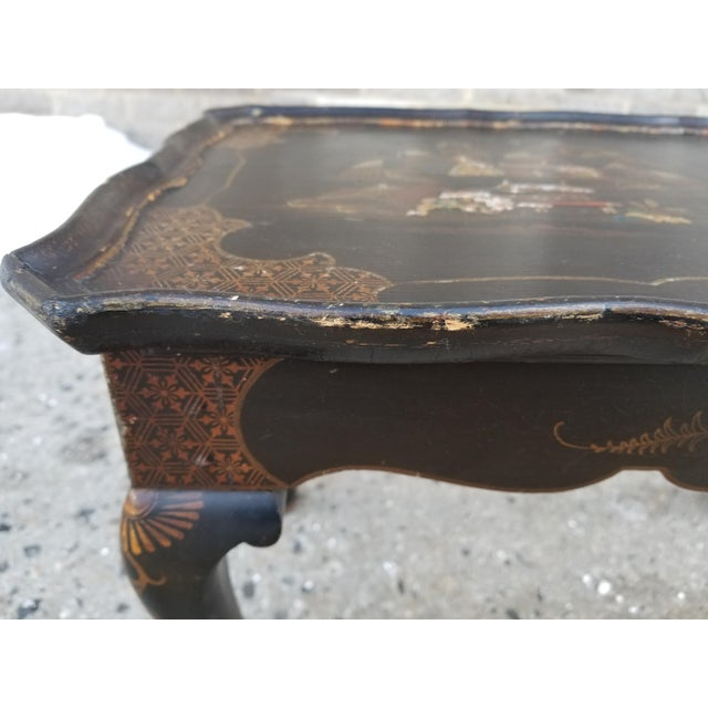 Antique Victorian English Queen Anne Style Chinoiserie Tea Table For Sale - Image 11 of 11