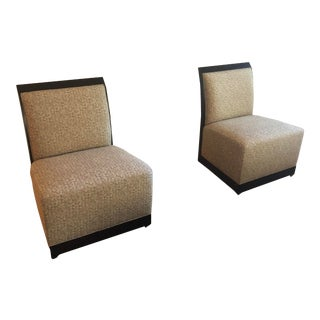 Henredon Slipper Chairs - a Pair For Sale