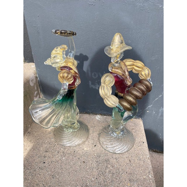 Murano Vintage Murano Glass Figurines - a Pair For Sale - Image 4 of 12