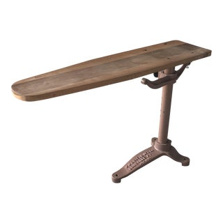 1930s Cissell Mfg Industrial Age Cast Iron and Wood Spotting Board For Sale
