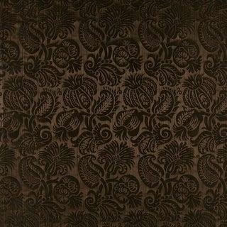 Sample, Suzanne Tucker Home Grenade Silk Damask in Godiva For Sale