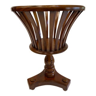 Carved Mahogany Plant Stand For Sale
