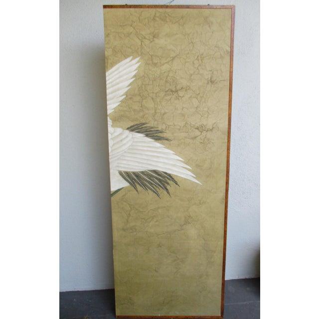 Asian Modern Chinoiserie Folding Screen - Image 9 of 11